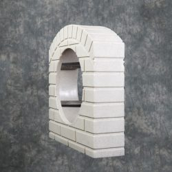 culvert-pipe-covers/Culvert-pipe-cover-15-inch-sandstone-adapter-kit-residential-driveway-drainage